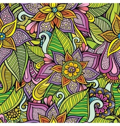 Beautiful decorative floral ornamental seamless vector