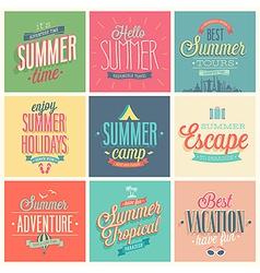 summer set vector image