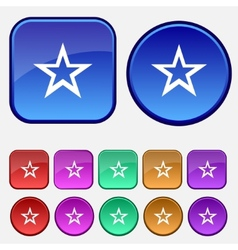Star sign icon favorite button navigation symbol vector