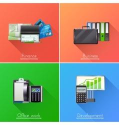 Business Design Concept Set vector image