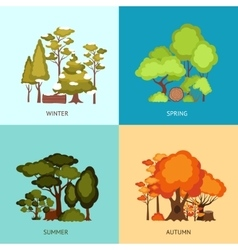Forest design concept vector