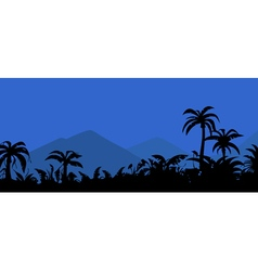Landscape night in the tropics vector