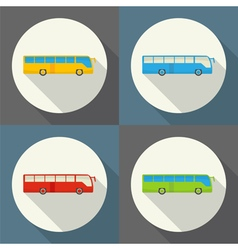 Bus set icon vector
