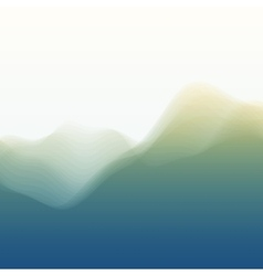 Mountain Landscape Silhouettes Of vector image