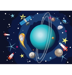 Uranus planet in the space4 vector