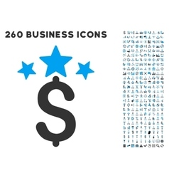 Business stars icon with flat set vector