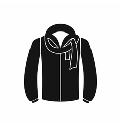 Jacket icon black simple style vector