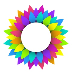Abstract rainbow flower logo design vector