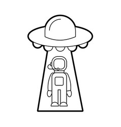 Austronaut abducted by ufo science fiction vector