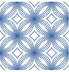 blue floral pattern halftone background vector image