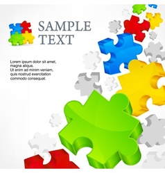 Color puzzles vector image vector image