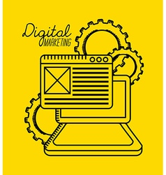 digital marketing vector image vector image