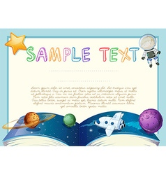 Diploma with astronomy book background vector