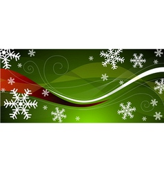 green Christmas decoration vector image vector image