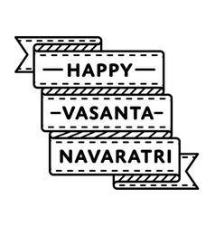 Happy vasanta navaratri greeting emblem vector