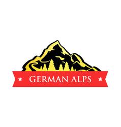 Logo of german alps vector