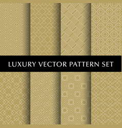 luxury golden patterns pack vector image vector image