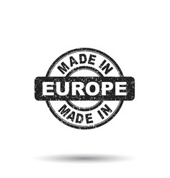 Made in europe stamp on white background vector