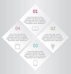 Modern infographics white square design template vector