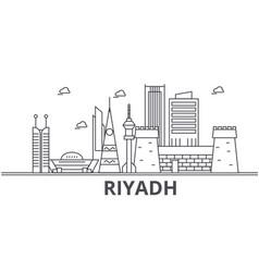 Riyadh architecture line skyline vector