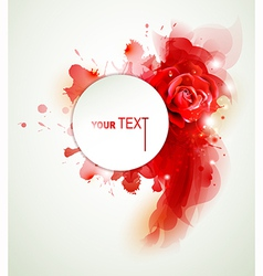 Rose and elements vector