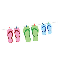sandals vector image