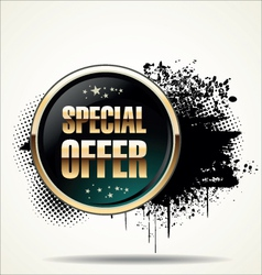 Special offer grunge banner vector image