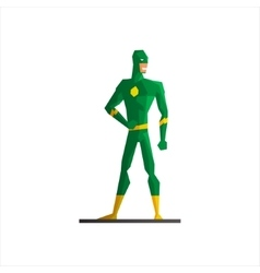 Superhero wearing green suite vector