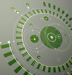 Technical blueprint green digital background with vector
