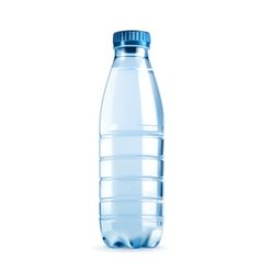 Water bottle object vector image