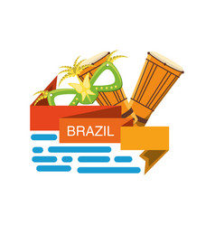 Welcome to brazil design vector