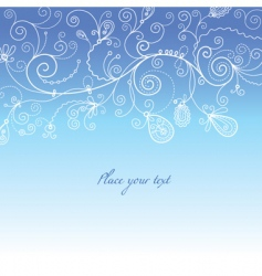 wintry background vector image vector image