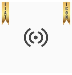 Wireless network icon wifi zone signal vector