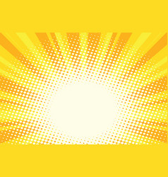 yellow gold cartoon sunrise pop art background vector image vector image