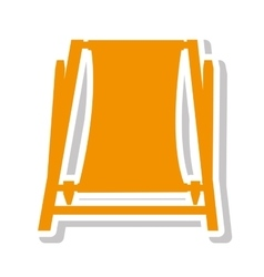 Chair beach summer isolated icon vector