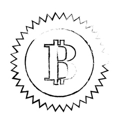 Bitcoin currency digital symbol logotype of cash vector