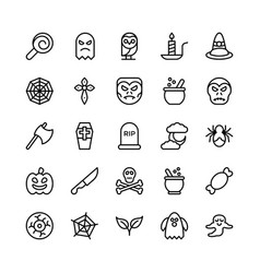 Halloweenparty and celebration line icon 22 vector