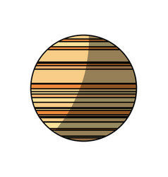 jupiter planet isolated vector image