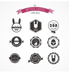 Happy hipster easter - set of icons and elements vector
