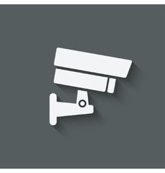 Security camera symbol vector
