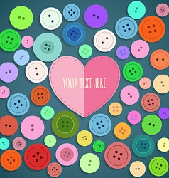 Colorful sewing buttons seamless pattern vector