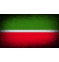 Flag of tatarstan with old texture vector