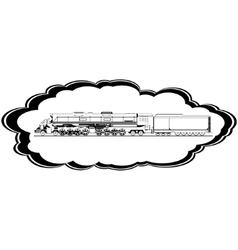 Old locomotive vector image