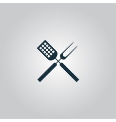 Barbecue utensils vector