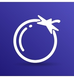 Simple tomato symbol icon useful for logo vector