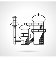 Power plant flat line icon vector