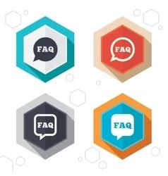 Faq information signs help speech bubbles vector