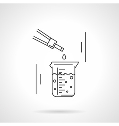 Laboratory research flat line icon vector