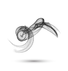Abstract smoke pencil drawn vector