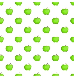 Apple pattern cartoon style vector image vector image